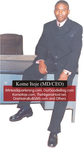 Kome Itoje - the author and publisher of Internet Marketing Headquarters Nigeria