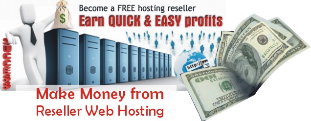 make money online from reseller web host